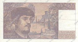 20 Francs DEBUSSY FRANCE  1987 F.66.08 pr.SUP