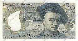 50 Francs QUENTIN DE LA TOUR FRANCE  1977 F.67.02 SUP+