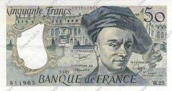50 Francs QUENTIN DE LA TOUR FRANCE  1981 F.67.07 SUP+