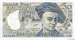 50 Francs QUENTIN DE LA TOUR FRANCE  1983 F.67.09 NEUF