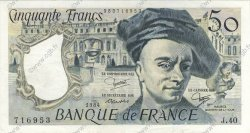 50 Francs QUENTIN DE LA TOUR FRANCE  1984 F.67.10 SUP+