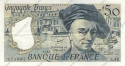 50 Francs QUENTIN DE LA TOUR FRANCE  1985 F.67.11 SUP+