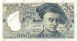 50 Francs QUENTIN DE LA TOUR FRANCE  1987 F.67.13 SUP+