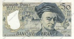 50 Francs QUENTIN DE LA TOUR  FRANCE  1988 F.67.14 SPL