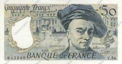 50 Francs QUENTIN DE LA TOUR FRANCE  1988 F.67.14 SPL
