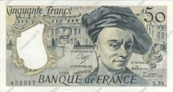 50 Francs QUENTIN DE LA TOUR FRANCE  1989 F.67.15 SUP