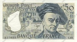 50 Francs QUENTIN DE LA TOUR FRANCE  1991 F.67.17 SPL