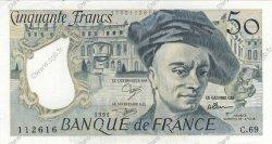 50 Francs QUENTIN DE LA TOUR FRANCE  1991 F.67.17 SPL