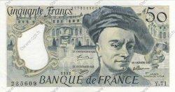 50 Francs QUENTIN DE LA TOUR FRANCE  1992 F.67.18 pr.SPL