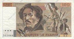 100 Francs DELACROIX modifié FRANCE  1978 F.69.01c TB+