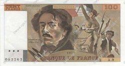 100 Francs DELACROIX modifié FRANCE  1978 F.69.01h pr.NEUF