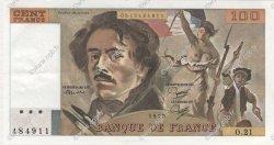 100 Francs DELACROIX modifié FRANCE  1979 F.69.03 SUP à SPL