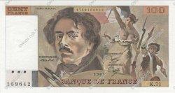 100 Francs DELACROIX modifié FRANCE  1984 F.69.08a NEUF