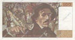 100 Francs DELACROIX modifié FRANCE  1984 F.69.08a pr.SUP
