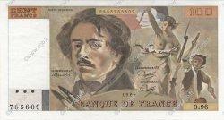 100 Francs DELACROIX modifié FRANCE  1985 F.69.09 SPL