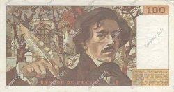 100 Francs DELACROIX modifié FRANCE  1989 F.69.13c SUP