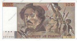 100 Francs DELACROIX imprimé en continu FRANCE  1990 F.69bis.02b pr.NEUF