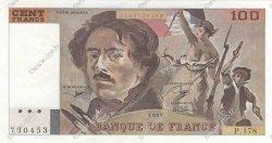 100 Francs DELACROIX imprimé en continu FRANCE  1990 F.69bis.02c SUP+