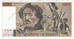 100 Francs DELACROIX imprimé en continu FRANCE  1990 F.69bis.02d pr.SPL