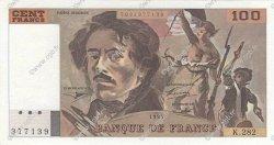 100 Francs DELACROIX 442-1 & 442-2 FRANCE  1994 F.69ter.01c SPL+