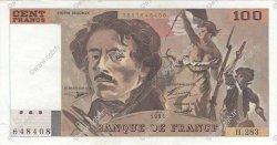 100 Francs DELACROIX 442-1 & 442-2 FRANCE  1994 F.69ter.01c pr.SPL