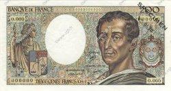 200 Francs MONTESQUIEU FRANCE  1981 F.70.00s1 pr.NEUF