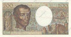 200 Francs MONTESQUIEU FRANCE  1981 F.70.01 pr.SUP