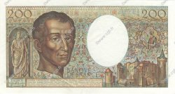 200 Francs MONTESQUIEU FRANCE  1981 F.70.01 SUP