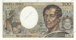 200 Francs MONTESQUIEU FRANCE  1981 F.70.01 SUP+