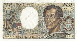 200 Francs MONTESQUIEU FRANCE  1984 F.70.04 SUP+