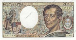 200 Francs MONTESQUIEU FRANCE  1990 F.70.10b SPL+