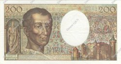 200 Francs MONTESQUIEU Modifié FRANCE  1994 F.70/2.01 SUP+