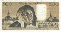 500 Francs PASCAL FRANCE  1968 F.71.00s2 SPL