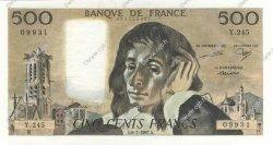 500 Francs PASCAL FRANCE  1987 F.71.35 NEUF