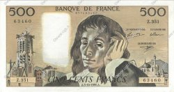 500 Francs PASCAL FRANCE  1991 F.71.48 pr.SPL
