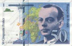 50 Francs SAINT-EXUPÉRY modifié FRANCE  1999 F.73.05 SUP+