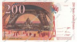 200 Francs EIFFEL FRANCE  1996 F.75.02 SPL+