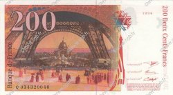 200 Francs EIFFEL FRANCE  1996 F.75.02 SPL
