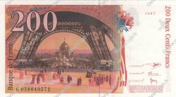 200 Francs EIFFEL FRANCE  1997 F.75.04b SUP+