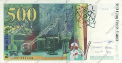 500 Francs PIERRE ET MARIE CURIE FRANCE  1998 F.76.04 SUP à SPL