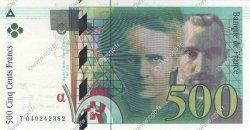 500 Francs PIERRE ET MARIE CURIE FRANCE  1998 F.76.04 pr.NEUF