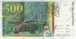 500 Francs PIERRE ET MARIE CURIE symbole en haut FRANCE  2000 F.76bis.03 TTB+