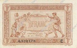 1 Franc TRÉSORERIE AUX ARMÉES FRANCE  1917 VF.03.03 SPL+