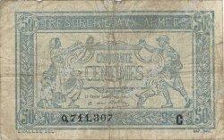 50 Centimes TRÉSORERIE AUX ARMÉES FRANCE  1917 VF.01.03 B+