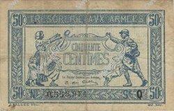 50 Centimes TRÉSORERIE AUX ARMÉES FRANCE  1917 VF.01.16 TTB