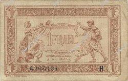 1 Franc TRÉSORERIE AUX ARMÉES FRANCE  1917 VF.03.08 TTB