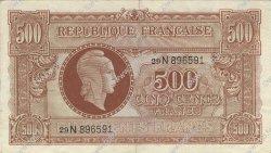 500 Francs MARIANNE FRANCE  1945 VF.11.03 TTB+