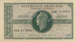 1000 Francs MARIANNE chiffres gras FRANCE  1945 VF.12.01 SPL
