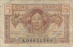 5 Francs TRÉSOR FRANCAIS FRANCE  1947 VF.29.01 TB