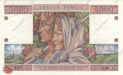 5000 Francs TRÉSOR PUBLIC FRANCE  1955 VF.36.02 pr.NEUF